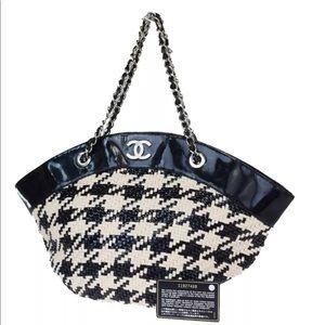 Authentic CHANEL black & white shoulder bag